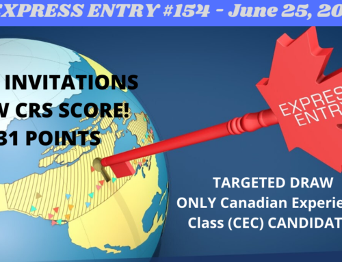 Federal Express Entry Draw #155 on June 25, 2020 – Canadian Experience Class