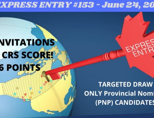 Federal Express Entry Draw #153–June 24, 2020 – Provincial Nominee Program