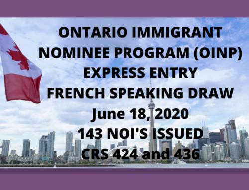 Ontario French Speaking Express Entry Draw – June 18, 2020