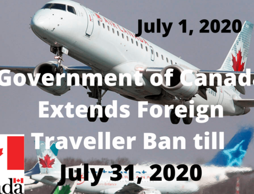 Canada Extends Foreign TravellerBan to July 31st