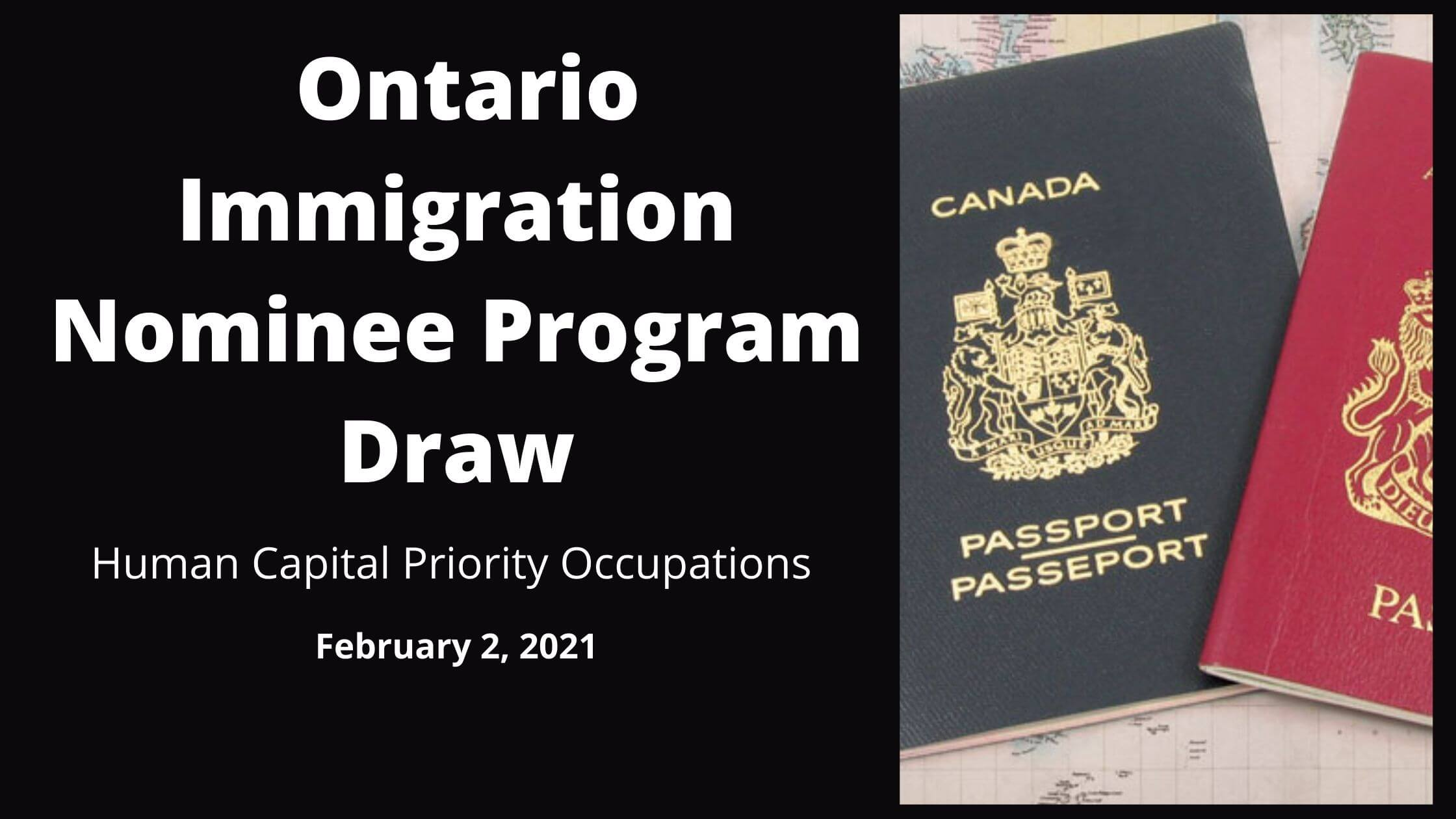 Ontario Immigration Nominee Program Draw