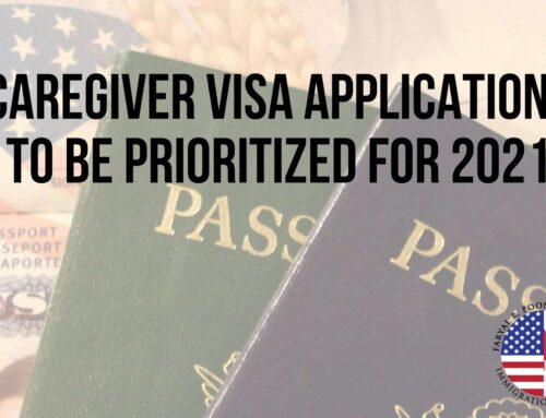Caregiver Visa Applications to be Prioritized for 2021